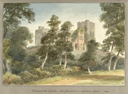 Tamworth Castle, Staffordshire sketched April 1849